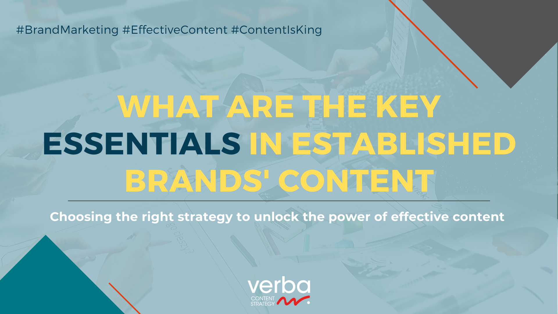 What are the Key Essentials in Established Brands' Content header image
